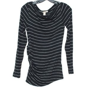 Banana Republic Top Long Sleeve Striped Small G1